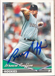 Bruce Ruffin Autographed 1994 Topps #407