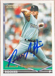 Bruce Ruffin Autographed 1994 Topps Gold #407
