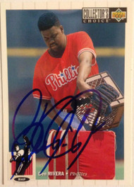 Ben Rivera Autographed 1994 Collectors Choice #626