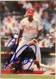 Ben Rivera Autographed 1993 Stadium Club #654