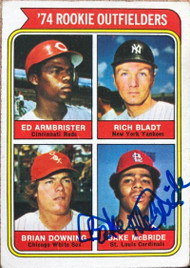 Bake McBride Autographed 1974 Topps #601