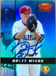 Brett Myers Autographed 2000 Bowman's Best Pre-Production #PP3