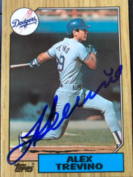 Alex Trevino Autographed 1987 Topps Tiffany #173