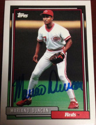 Mariano Duncan Autographed 1992 Topps #589