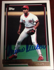 Mariano Duncan Autographed 1992 Topps Gold #589