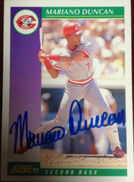 Mariano Duncan Autographed 1992 Score #352