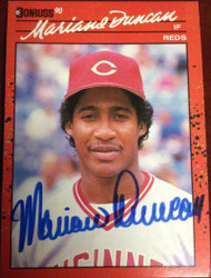 Mariano Duncan Autographed 1990 Donruss #684