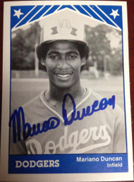 Mariano Duncan Autographed 1983 TCMA #16 Vero Beach Dodgers Minor Leagues