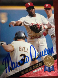 Mariano Duncan Autographed 1993 Leaf 187