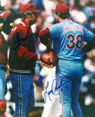 Larry Christenson and Dallas Green Autographed Phillies  8 x 10  Photo