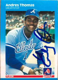 Andres Thomas Autographed 1987 Fleer #531