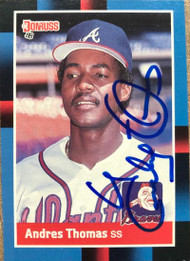Andres Thomas Autographed 1988 Donruss #627