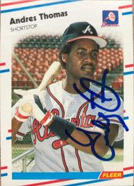 Andres Thomas Autographed 1988 Fleer #551