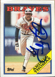 Andres Thomas Autographed 1988 Topps #13