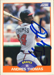 Andres Thomas Autographed 1989 Score #406