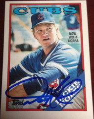 Dickie Noles Autographed 1988 Topps Tiffany #768