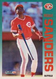 1992 Fleer #421 Reggie Sanders VG Cincinnati Reds