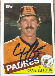 Craig Lefferts Autographed 1985 Topps #608