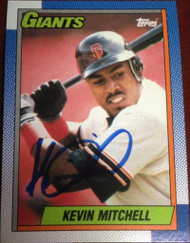 Kevin Mitchell Autographed 1990 Topps #500