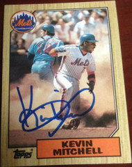 Kevin Mitchell Autographed 1987 Topps #653
