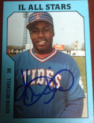 Kevin Mitchell Autographed 1985 TCMA Tidewater Tides #4