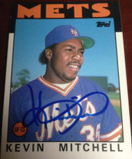 Kevin Mitchell Autographed 1986 Topps Traded #74T