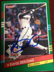 Kevin Mitchell Autographed 1991 Donruss #438