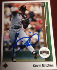 Kevin Mitchell Autographed 1989 Upper Deck #163