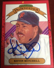 Kevin Mitchell Autographed 1990 Donruss Diamond Kings #11