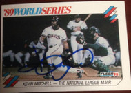 SOLD 3645 Kevin Mitchell Autographed 1990 Fleer 1989 World Series #2 of 12