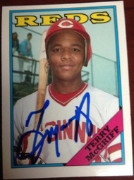 Terry McGriff Autographed 1988 Topps Tiffany #644