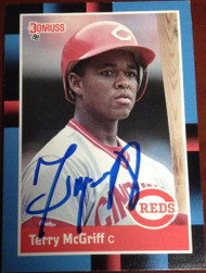 Terry McGriff Autographed 1988 Donruss #556