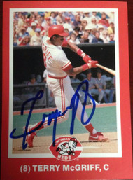 Terry McGriff Autographed 1988 Kahn's #8