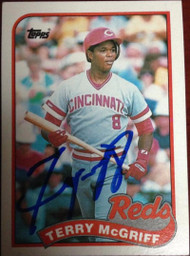 Terry McGriff Autographed 1989 Topps #151