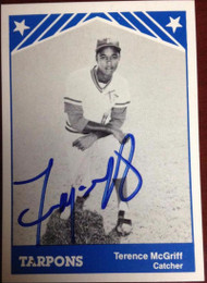 Terry McGriff Autographed 1983 TCMA Tampa Tarpons #18