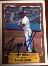 Terry McGriff Autographed 1990 Pro Cards #236