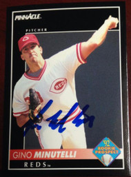 Gino Minutelli Autographed 1992 Pinnacle #261