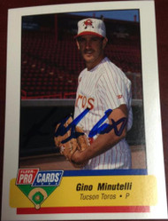 Gino Minutelli Autographed 1994 Fleer Pro Cards #758