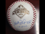 Milt Thompson Autographed 2008 World Series Baseball '08 WSC