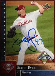 Scott Eyre Autographed 2008 Upper Deck Philadelphia Phillies World Series Champions #PP-25