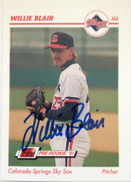 Willie Blair Autographed 1991 Line Drive AAA Pre-Rookie #78