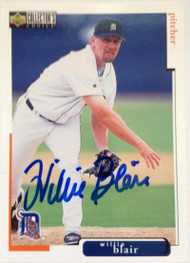 Willie Blair Autographed 1998 Collectors Choice #88