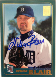 Willie Blair Autographed 2001 Topps #538