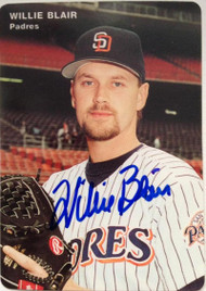 Willie Blair Autographed 1995 Mother's Cookies #20