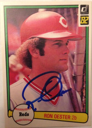 Ron Oester Autographed 1982 Donruss #500