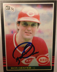 Ron Oester Autographed 1985 Donruss #81