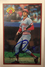 Ron Oester Autographed 1989 Bowman #310