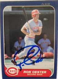 Ron Oester Autographed 1986 Fleer #183