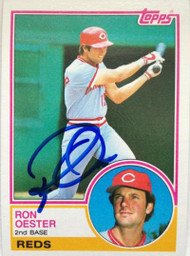 Ron Oester Autographed 1983 Topps #269