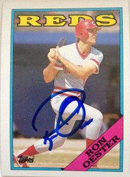 Ron Oester Autographed 1988 Topps #17